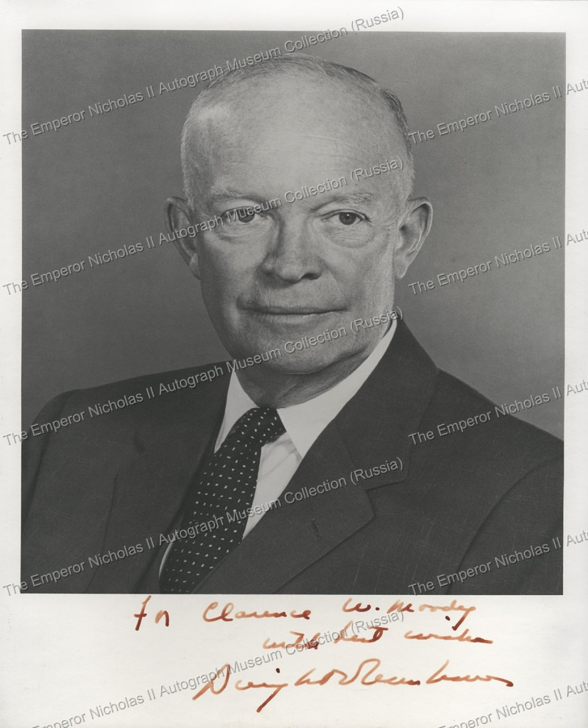 Автограф Дуайта Эйзенхауэра, 34-го Президента США. Dwight Eisenhower Autograph